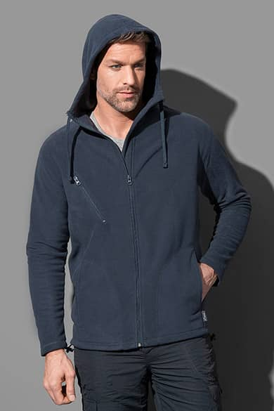 Hooded fleece jacket for men