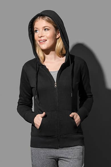 Hooded sweatjacket for women