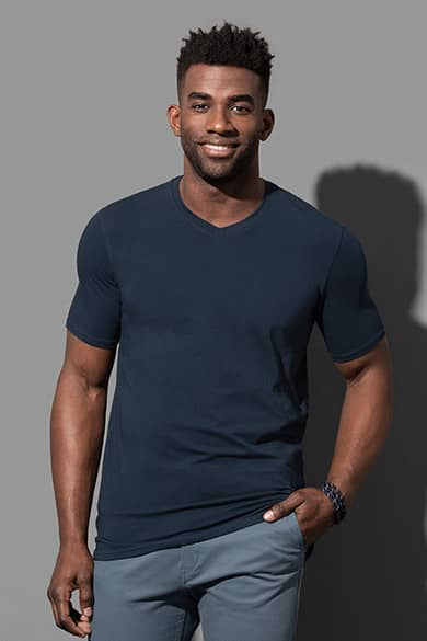 V-neck T-shirt for men
