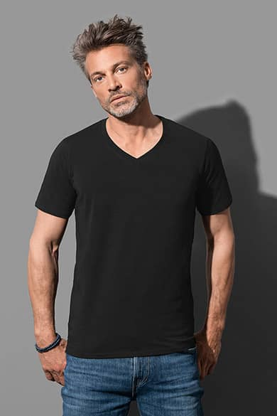 Deep V-neck T-shirt for men