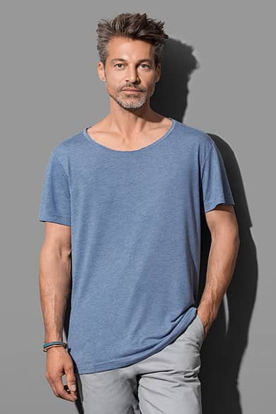 Oversized fashion crew neck T-shirt for men