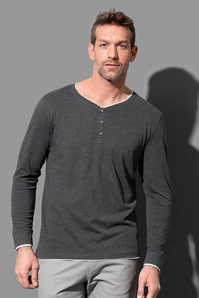 Long sleeve with buttons for men