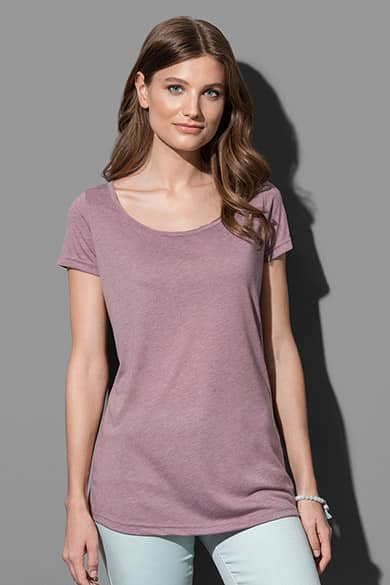 Oversized fashion crew neck T-shirt for women